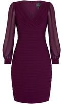 Adrianna Papell Jersey And Chiffon Sheath Dress