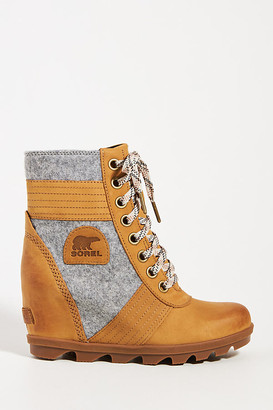 Sorel Lexie Wedge Weather Boots By in Yellow Size 6