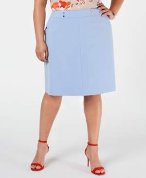 Bar III Trendy Plus Size A-Line Skirt, Created for Macy's