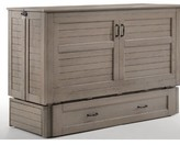 Wilbur Queen Storage Murphy Bed with Mattress Rosecliff Heights Color: Brushed Driftwood