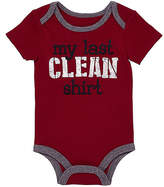 Baby Starters Burgundy 'My Last Clean Shirt' Bodysuit - Infant