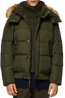 Andrew Marc Clermont Hooded Bomber Puffer Jacket