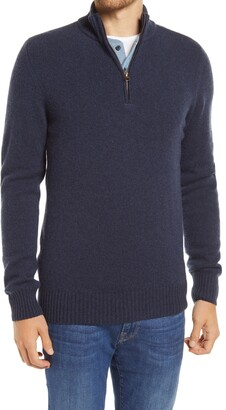 Billy Reid Merino Wool & Camel Half-Zip Pullover