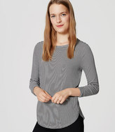 LOFT Stripe Seamed Shirttail Tee