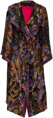 Etro Metallic Floral-jacquard Kimono