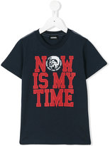 Diesel Now Is My Time T-shirt - kids - Cotton - 5 yrs