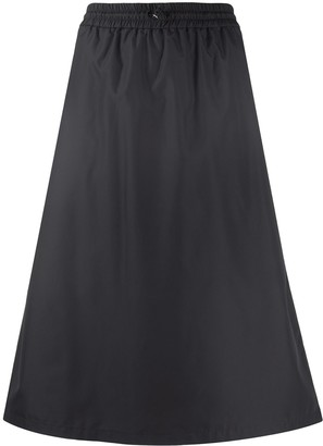 Thom Browne zipped gusset A-line skirt