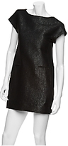 Judyanne Metallicized Wool Sheath Dress