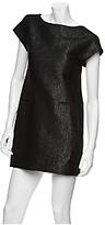 Theory Judyanne Metallicized Wool Sheath Dress