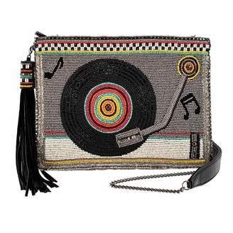Mary Frances Take A Spin Beaded Crossbody Record Player Handbag