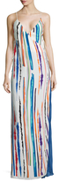 Emilio Pucci Silk Print Wrapped Maxi Dress