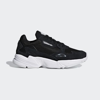 adidas Core Black Cloud White Falcon Sneaker - Core Black and Cloud White | 37 1/3 (4.5)