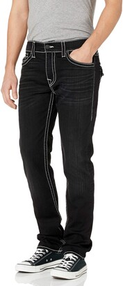 True Religion Men's Rocco Big T Skinny Fit Jean with Back Flap Pockets