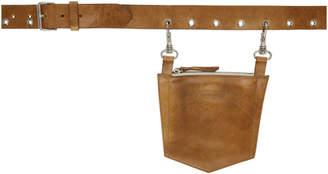 Dheygere Tan Leather Pocket Belt