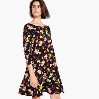 La Redoute Collections Floral Print Peplum Shift Dress