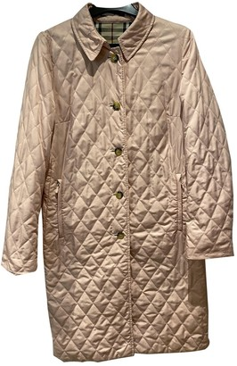 Burberry Pink Polyester Coats