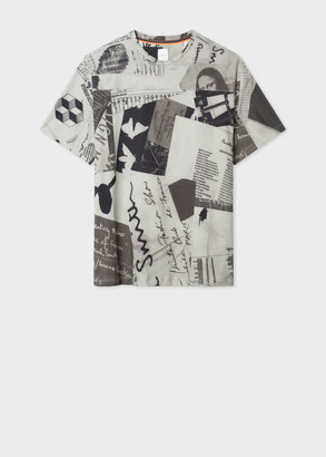 Paul Smith Men's Grey 'Show Collage' Print T-Shirt