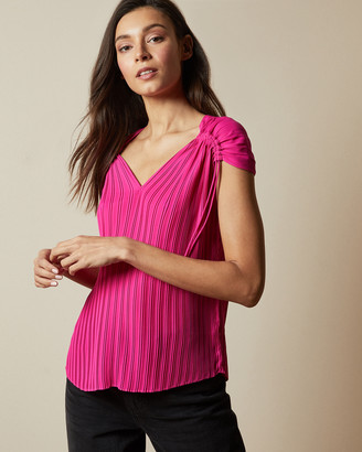 Ted Baker CHASTA Tie shoulder pleated top