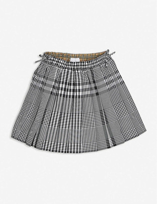 Burberry Pearly checked cotton mini skirt 8-14 years