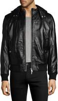 Slate & Stone Men's Solid Leather Jacket