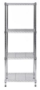 Edsal 4-Shelves Steel Wire Chrome Finish Finish Shelving Unit
