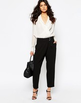 MANGO Wrap Front Pants
