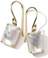 Ippolita 18k Gold Rock Candy Gelato Single Rectangle Drop Earrings, Mother-of-Pearl