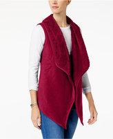 Karen Scott Asymmetrical Fleece Vest, Created for Macy's