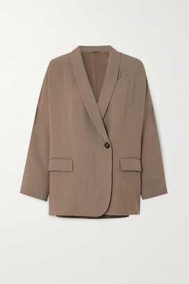 Brunello Cucinelli + Space For Giants Twill Blazer - Beige