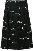 Proenza Schouler abstract print A-line skirt - women - Viscose - 6