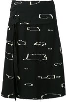 Proenza Schouler abstract print A-line skirt