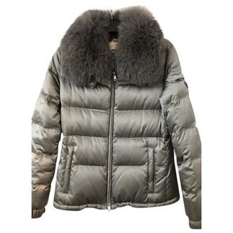Prada Silver Fur Coats
