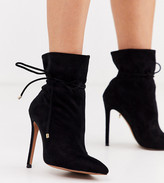 Asos Design DESIGN Wide Fit Estonia slouch ankle boots in black