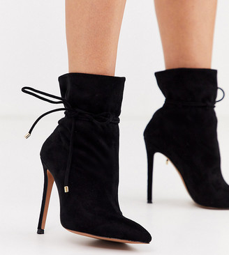 ASOS DESIGN Wide Fit Estonia slouch ankle boots in black