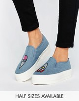 Asos DORIS Patched Flatform Sneakers
