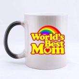 Nice Family Gift Mugs Morphing Mug - Fashion WORLD'S OKAYEST MOM Heat Sensitive Color Changing Mug Coffee Mugss Unique Birthday/Christmas/New Year/Mother's day/Festival/Anniversary/Yourself Gift Choice