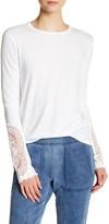 Pam & Gela Lace Cutout Long Sleeve Tee