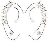 Charlotte Russe Studded Pearl Ear Crawlers & Stud Earrings Set