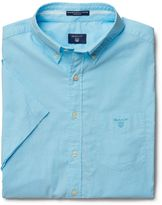Gant Short-Sleeve Washed Pinpoint Oxford Shirt