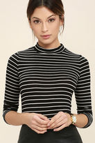 LuLu*s Anything is Posh-ible White Striped Top