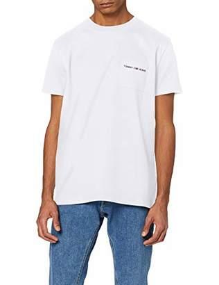 Tommy Jeans Men's TJM Logo Pocket TEE T-Shirt,Small (Size:S)
