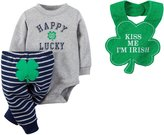 Carter's Baby Boy's My First St Patrick's Day 3 Piece Pant Set