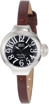 Glam Rock Women's Miami Beach Art Deco Dial Brown Genuine Leather