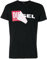 Diesel layered logo print T-shirt