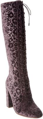 Alice + Olivia Vesey Flo Embossed Velvet Boot