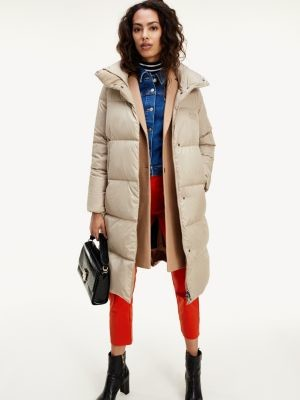 Tommy Hilfiger Stand-Up Collar Recycled Down Coat