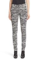 Saint Laurent Women's Tiger Print Skinny Jeans