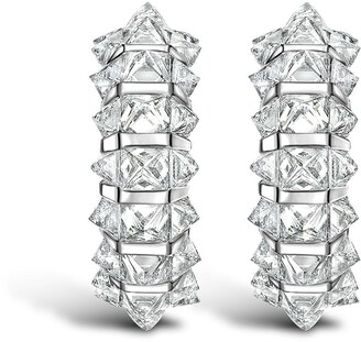 Pragnell RockChic diamond three-row hoop earrings