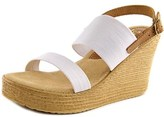 Sbicca Camilla Open Toe Canvas Wedge Heel.