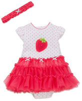 Little Me Two-Piece Strawberry Tutu Dress and Headband